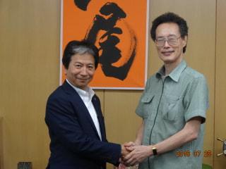 2018年12月 八尾市長 田中誠太さん